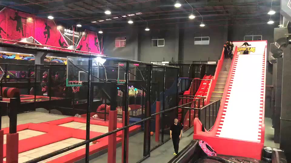 High Trampoline Jump Court with Jumping Socks