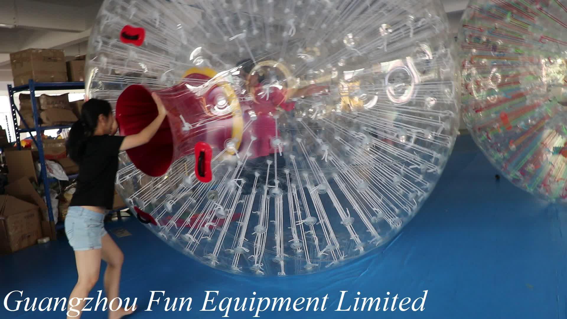 Vendita calda della fabbrica fabbricazione di criceto dimensioni umane palla da bowling gonfiabile sfera dello zorb gonfiabile del corpo zorbing palla per la vendita