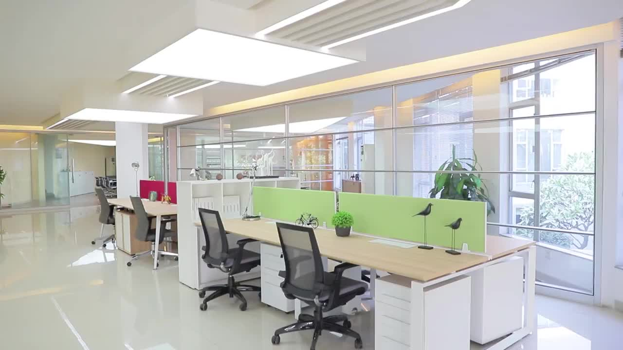 Einfache Moderne Stil Zu Hause Büro Computer Schreibtisch Workstation Für Zwei Person Mit Sockel Büro Möbel