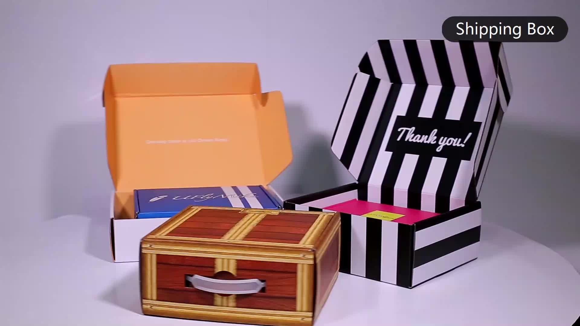 Custom Printed Carton Corrugated Paper Packaging Shoe Shipping Box