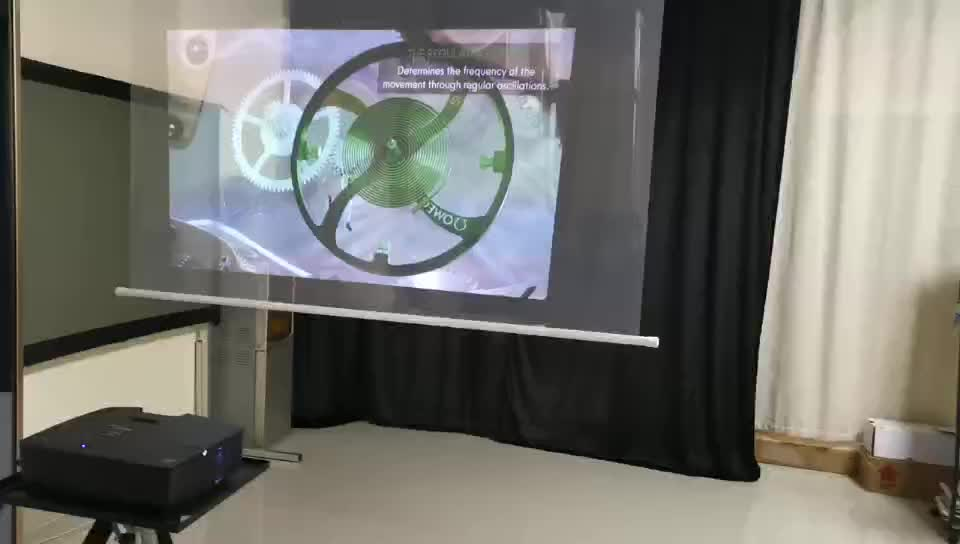 For better advertising,on the the window glass transparent holographic rear projection film