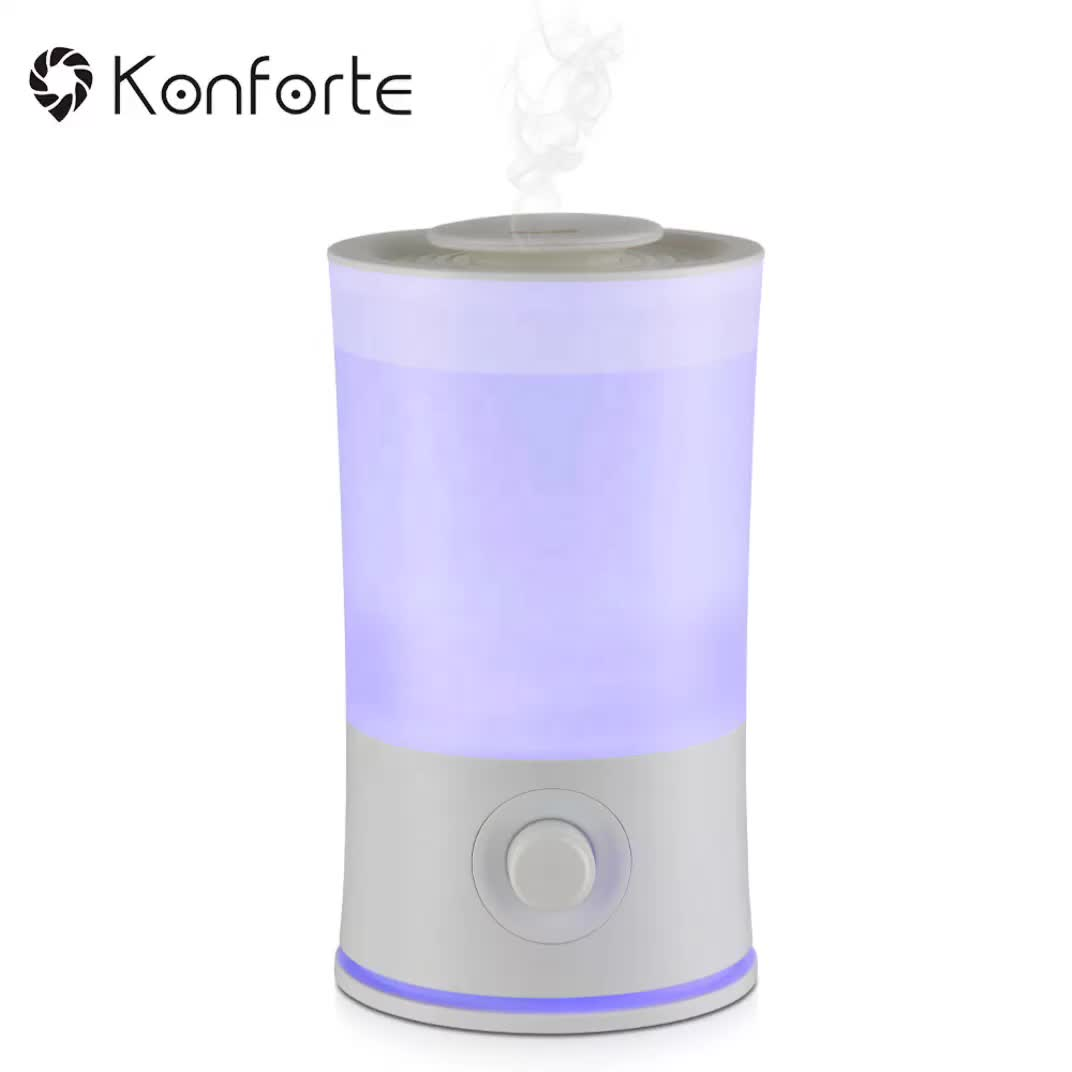 2019 hot sale Konforte New Technology Top Fill Humidifier Large Capacity Design Aroma Ultrasonic Cool Mist Humidifier