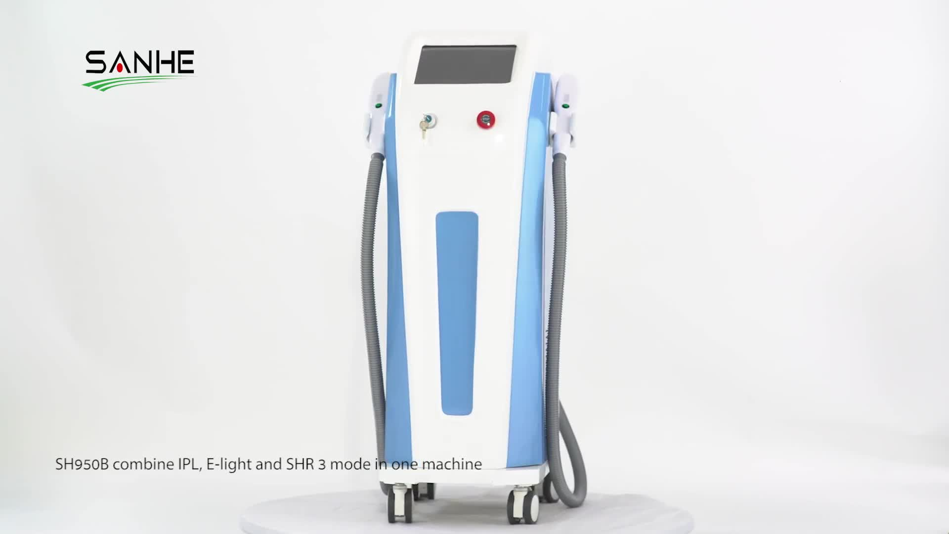 Two shr opt handles 300000 shots ipl shr hair removal machine with uk lamp