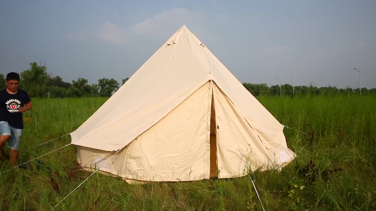 Beach Sun Shelter Excellent Camping Women Cotton Canvas Bell Tent to 2 years