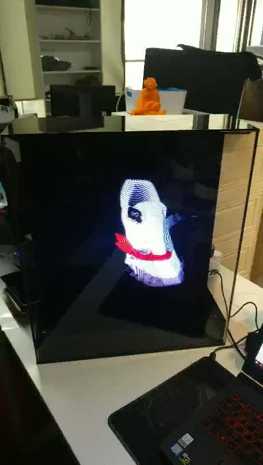 mini akıllı ad oynatıcı hologram projektör