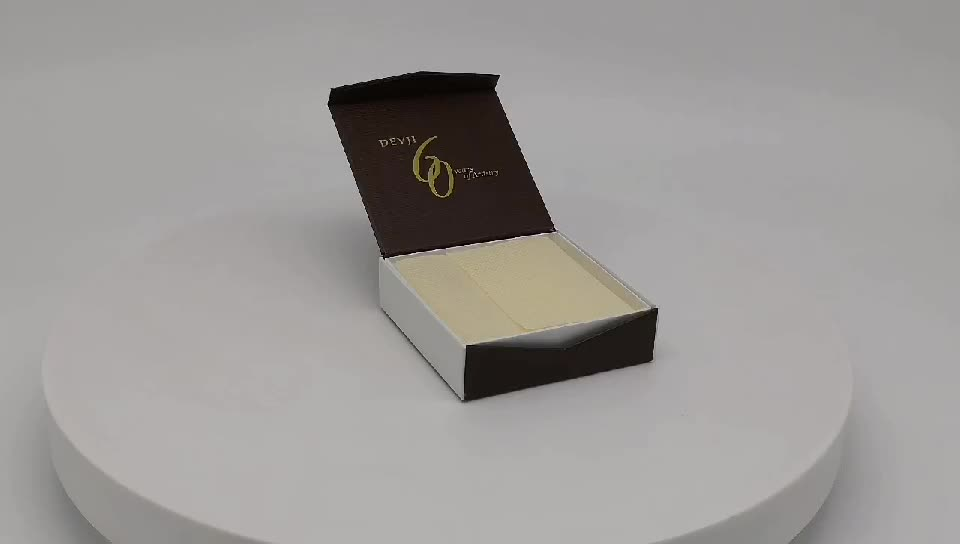 New Packaging Custom Logo Cardboard Gift Box With Sponge