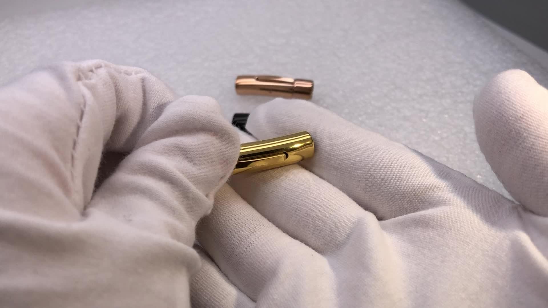 Haute Classe 316L Personnalisé En Acier Inoxydable Bracelet Fermoir 6mm Serrure Magnétique Pour Bracelet