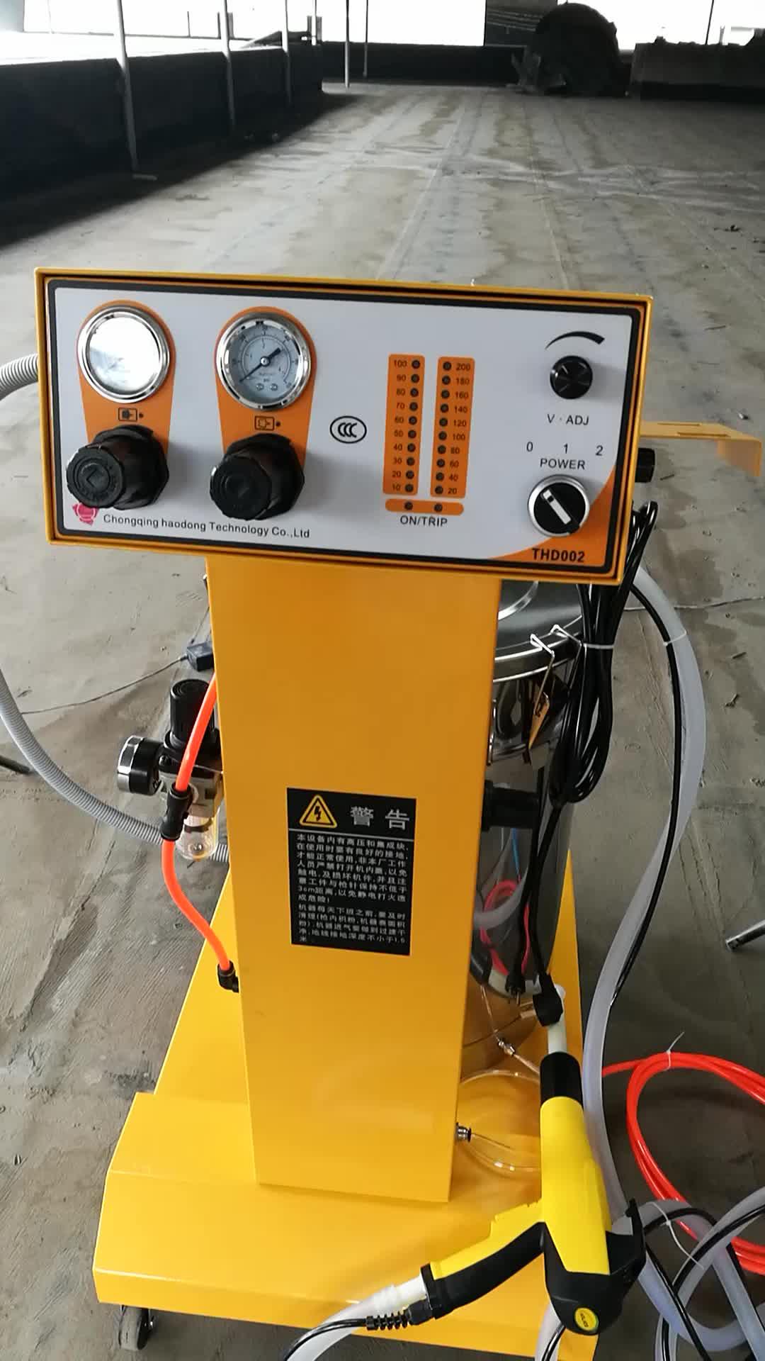 Suministro de China electrostática en polvo máquina de recubrimiento con PISTOLA DE PULVERIZACIÓN
