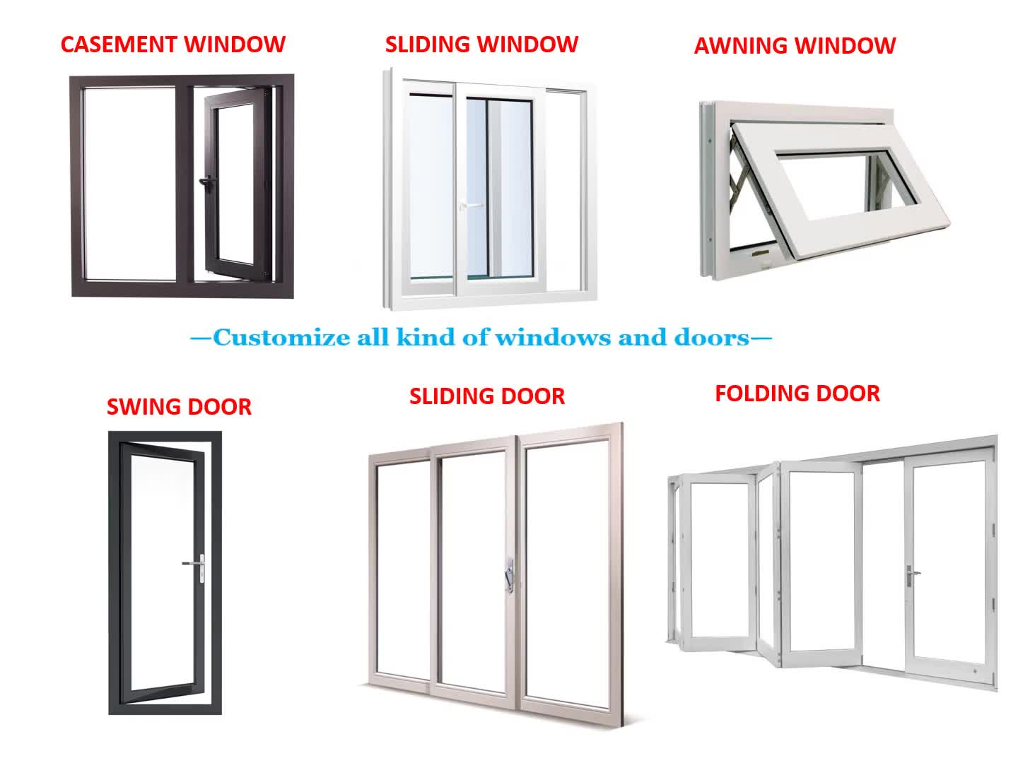 Names Of Aluminum Windows Sliding Window Gl Door And For Office