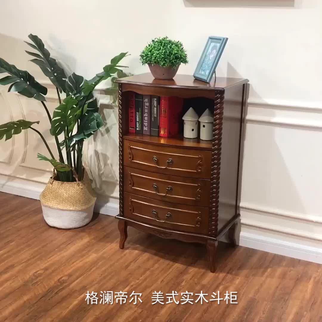 Commercio all'ingrosso antico soggiorno mobili classici in legno massello cassettiera in legno massello mobile ad angolo