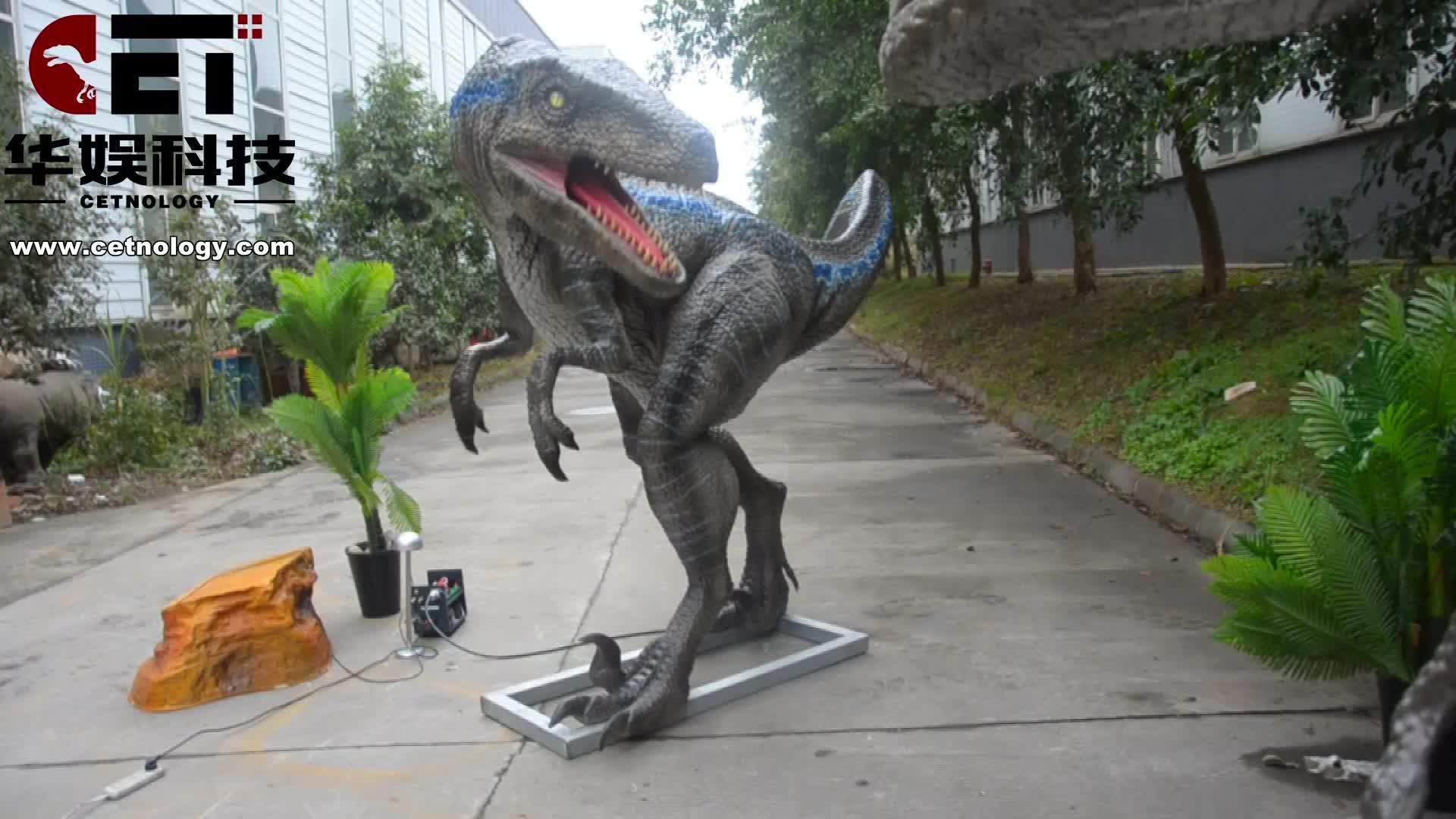 Cetnology-Vui Chơi Giải Trí Thực Tế Khủng Long Cử Động Được Velociraptor Cao Su Cuộc Sống-Kích Thước Nhân Tạo Khủng Long