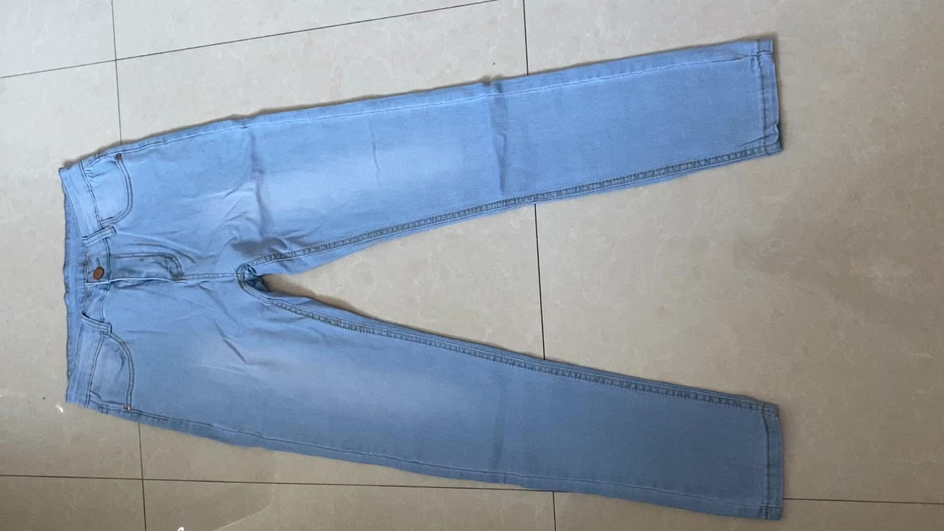 Wish alta calidad señoras otoño pantalones vaqueros elásticos mujer alta cintura Skinny Jeans