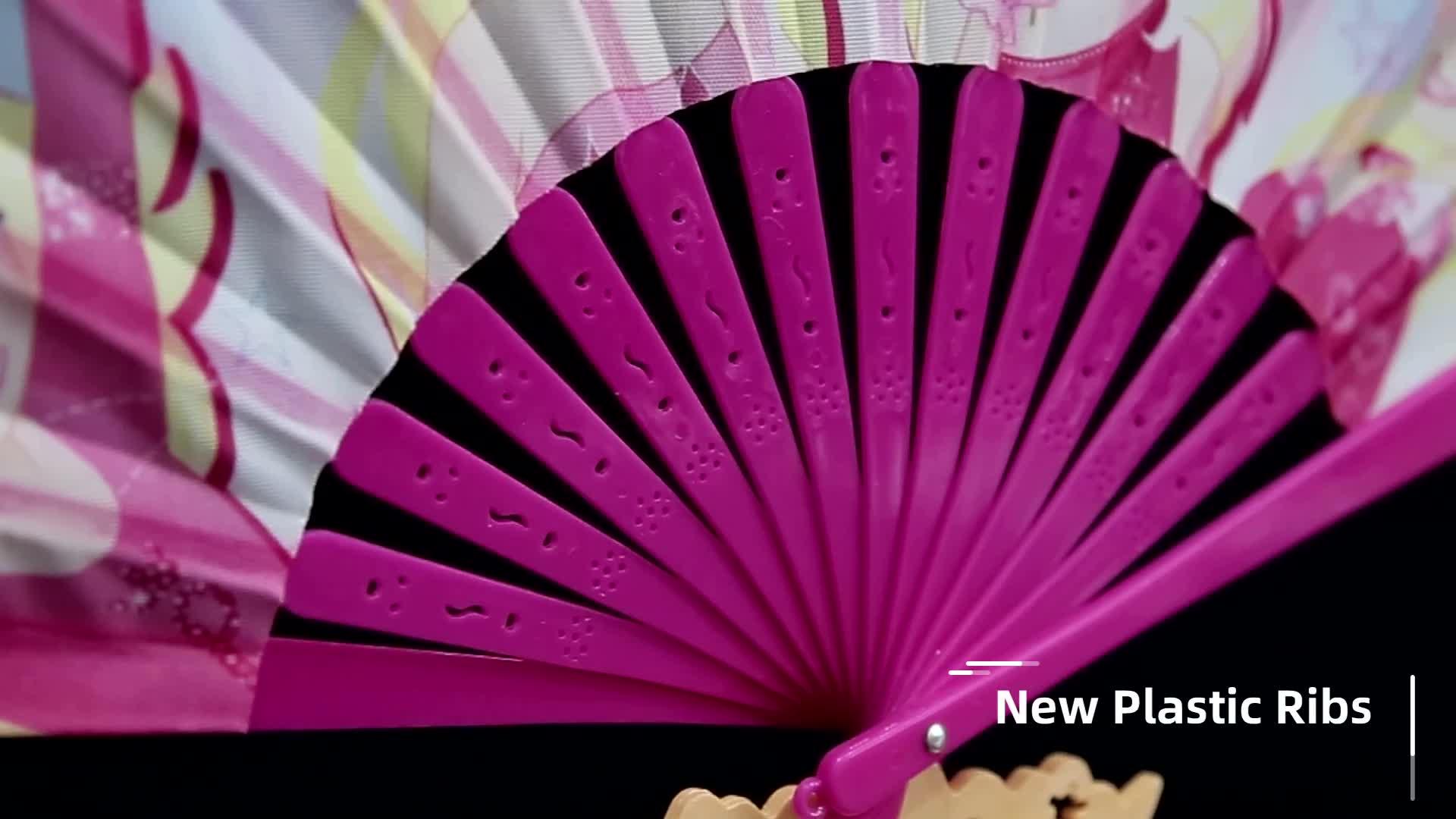 [I AM แฟนๆของคุณ] ขายร้อน 9 นิ้ว/23 ซม. L Classic Gitana Hechicera เต้นรำมือพัดลมสีขาวแต่งงานพัดลม 27 สีสำหรับเลือก