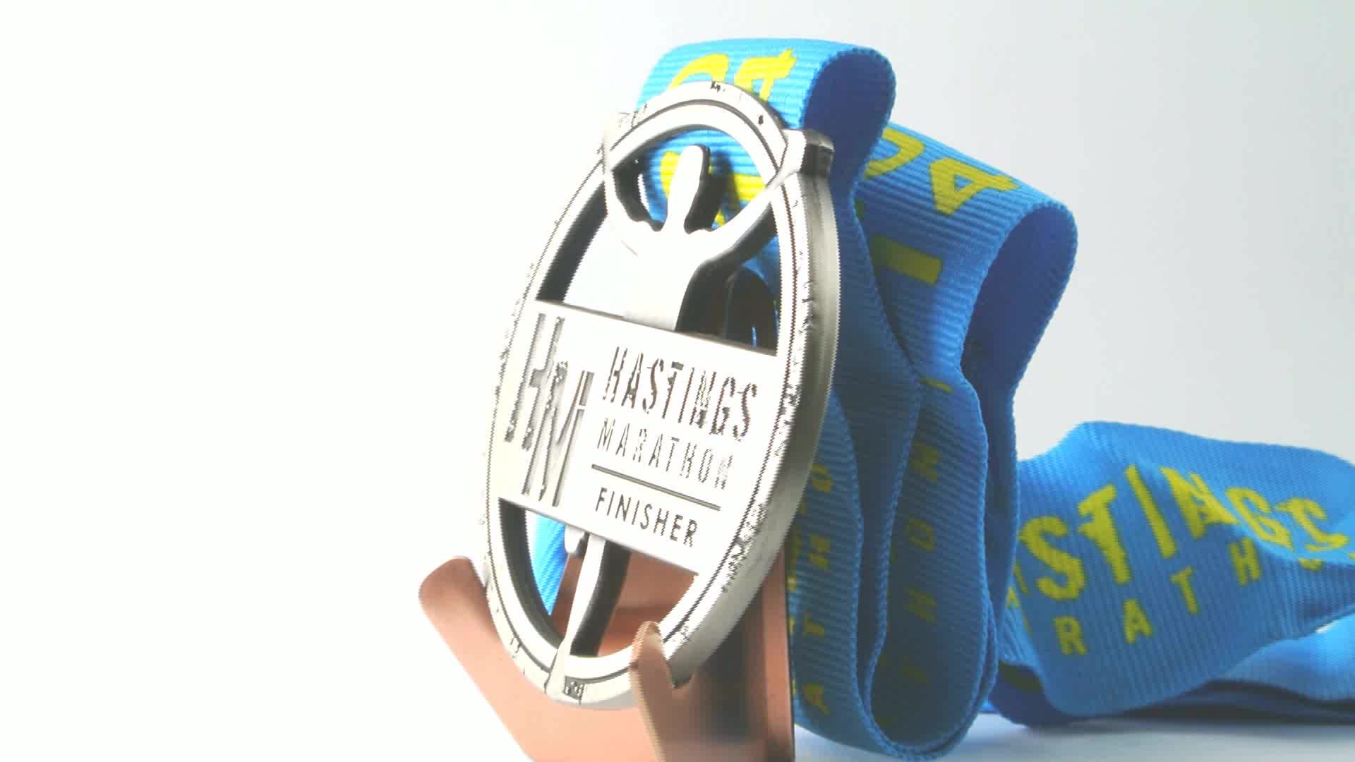 wholesale manufacture custom logo zinc alloy marathon sport running race award metal medal medallion