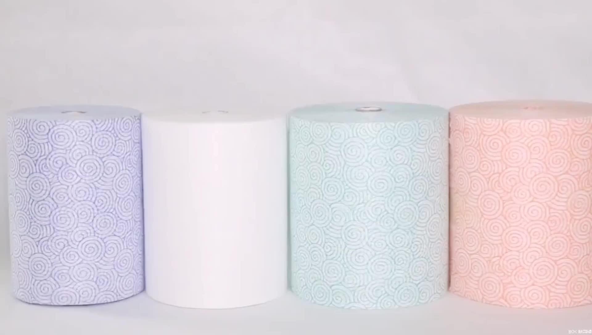 La migliore Vendita Viscosa Poliestere Stampato maglia Spunlace Tessuto Non Tessuto
