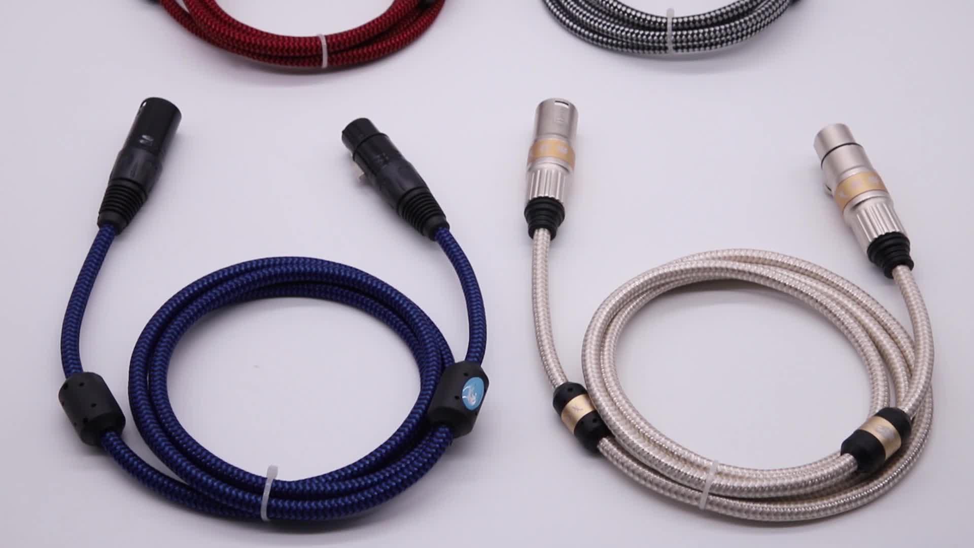 Hifi XLR XLR Jack 3 Pinos Macho para Fêmea Do Cabo Para Console de Mixagem de Áudio Amplificador