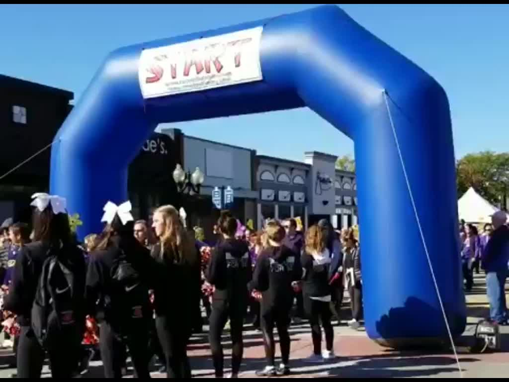 Outdoor events finish line inflatable arch