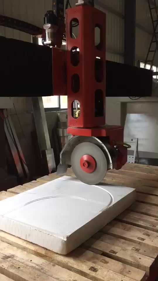 5 achsen CNC Granit Marmor Brücke Sah Maschine