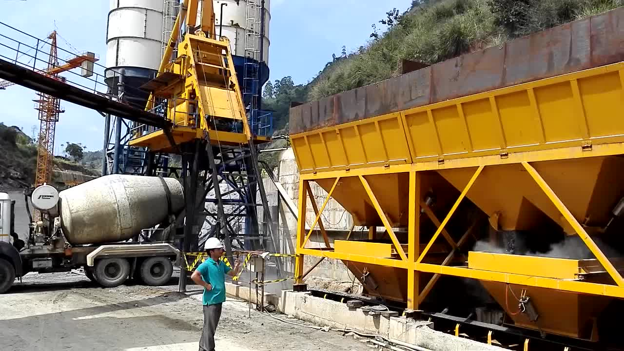 New arrival small portable ready mix concrete plant for sale