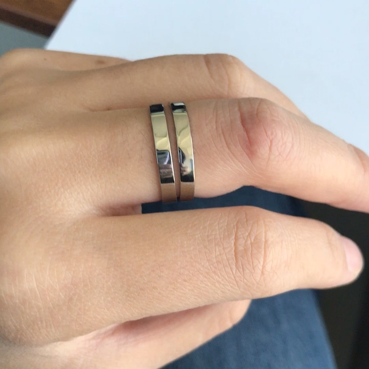 LY fashion 2019 new stainless steel ring blanks for women and men