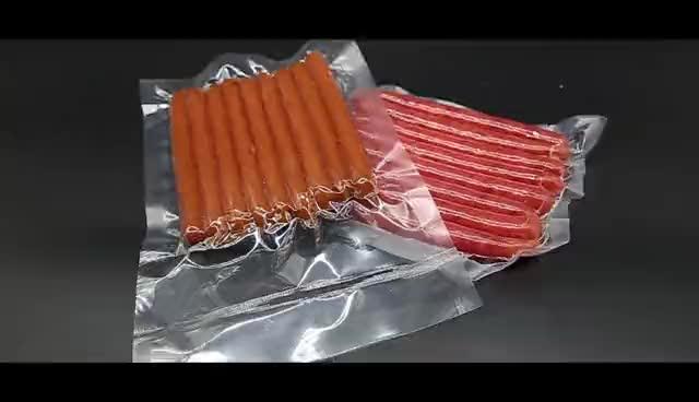 واضح شفاف نايلون حقيبة بلاستيكية فراغ تخزين أكياس التعبئة والتغليف ل طعام مجمد اللحوم الدجاج الأسماك المأكولات البحرية كيس مكنسة كهربائية