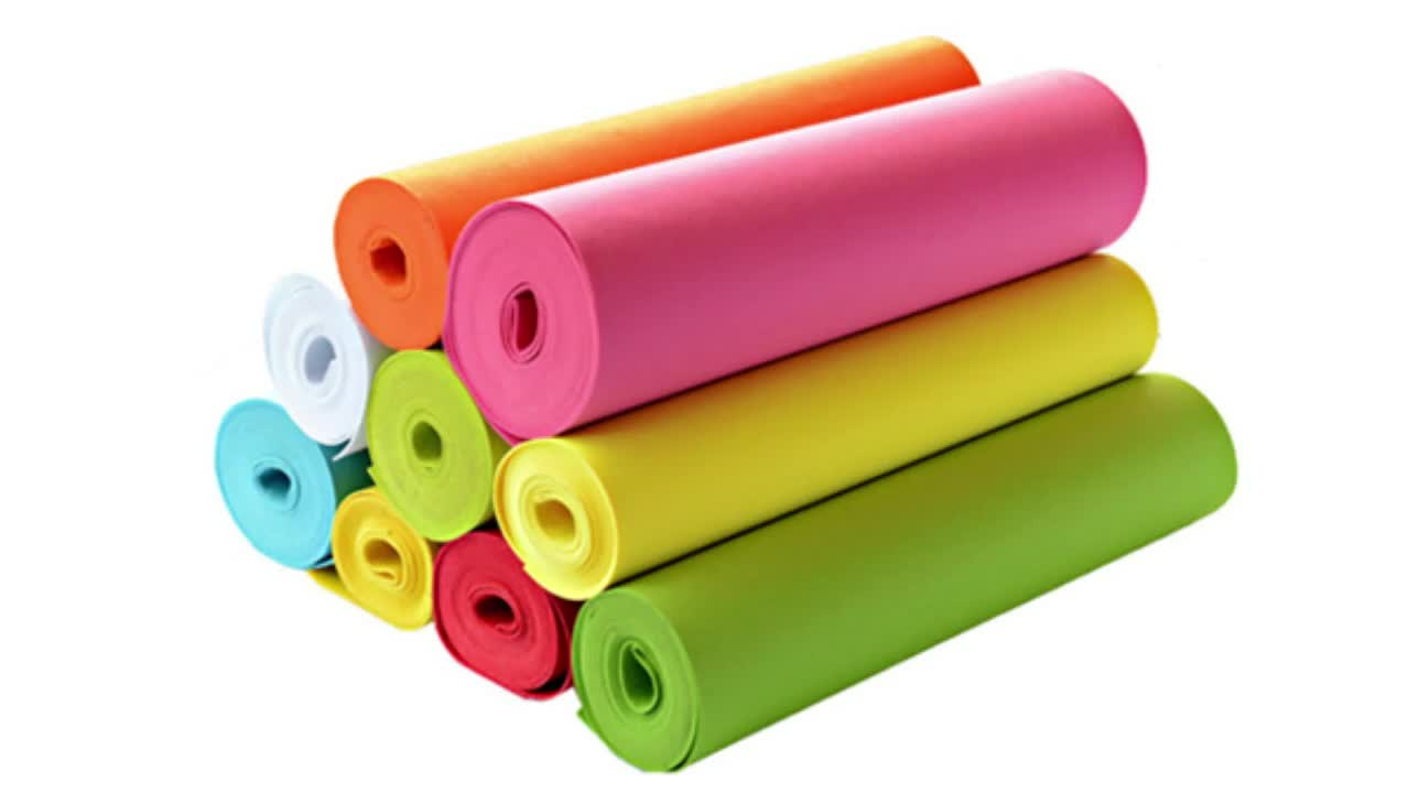 3mm thick Non Woven polyester  Felt Fabric for making bag or felt crafts