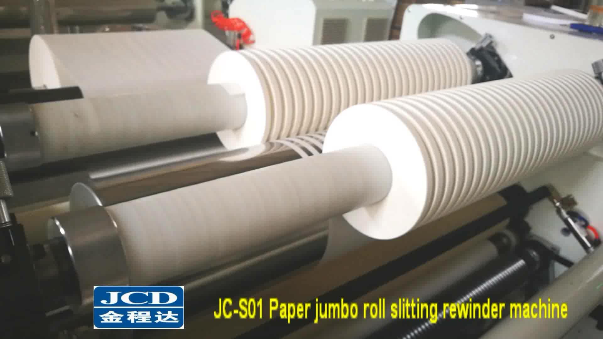 High precision label paper jumbo roll slitter rewinder