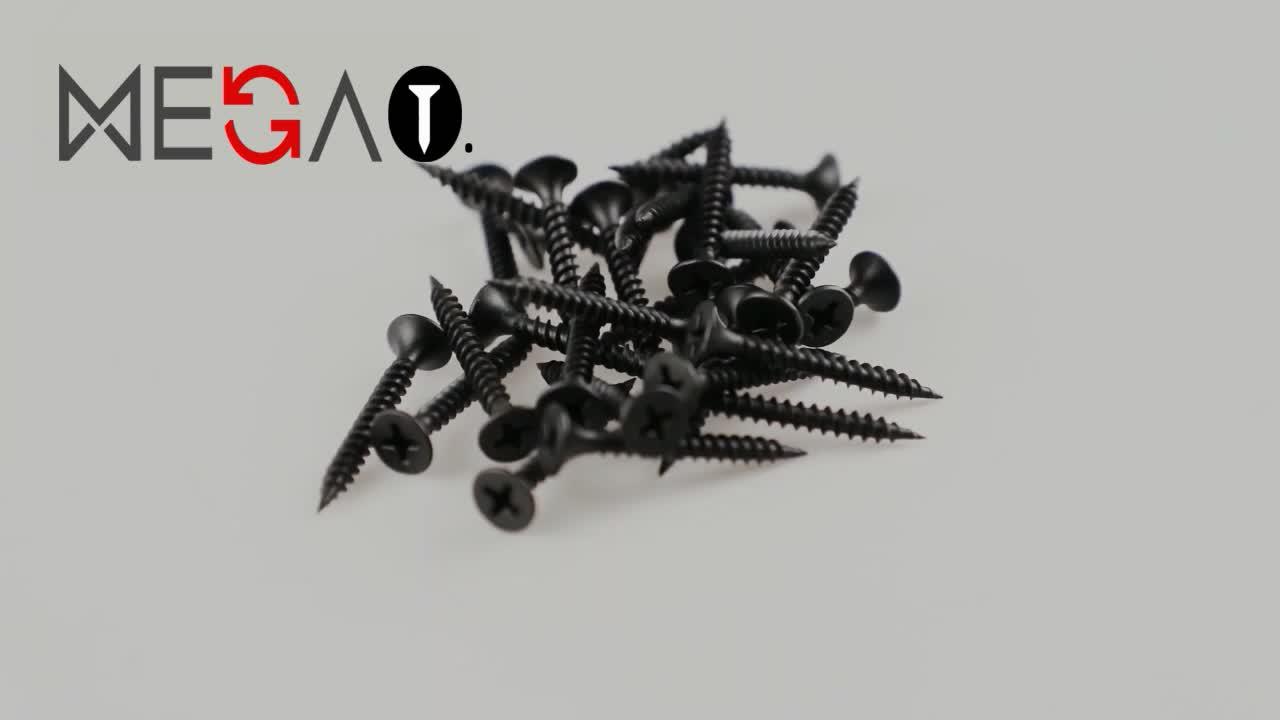 En kaliteli C1022A siyah kendinden dokunarak alçıpan vida kaba iplik alçıpan vida