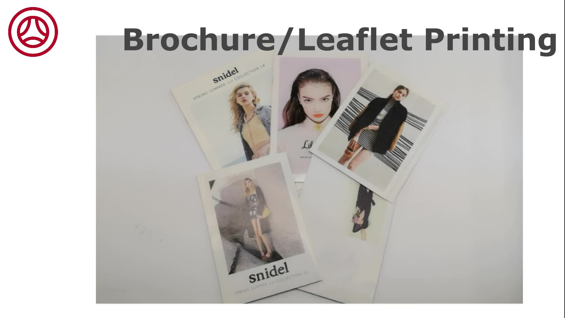Full Color Women's clothing Booklet Customized Brochure Printing