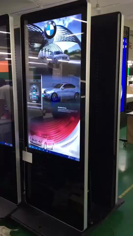 2017 touch screen android digital signage totem TV for supermarket