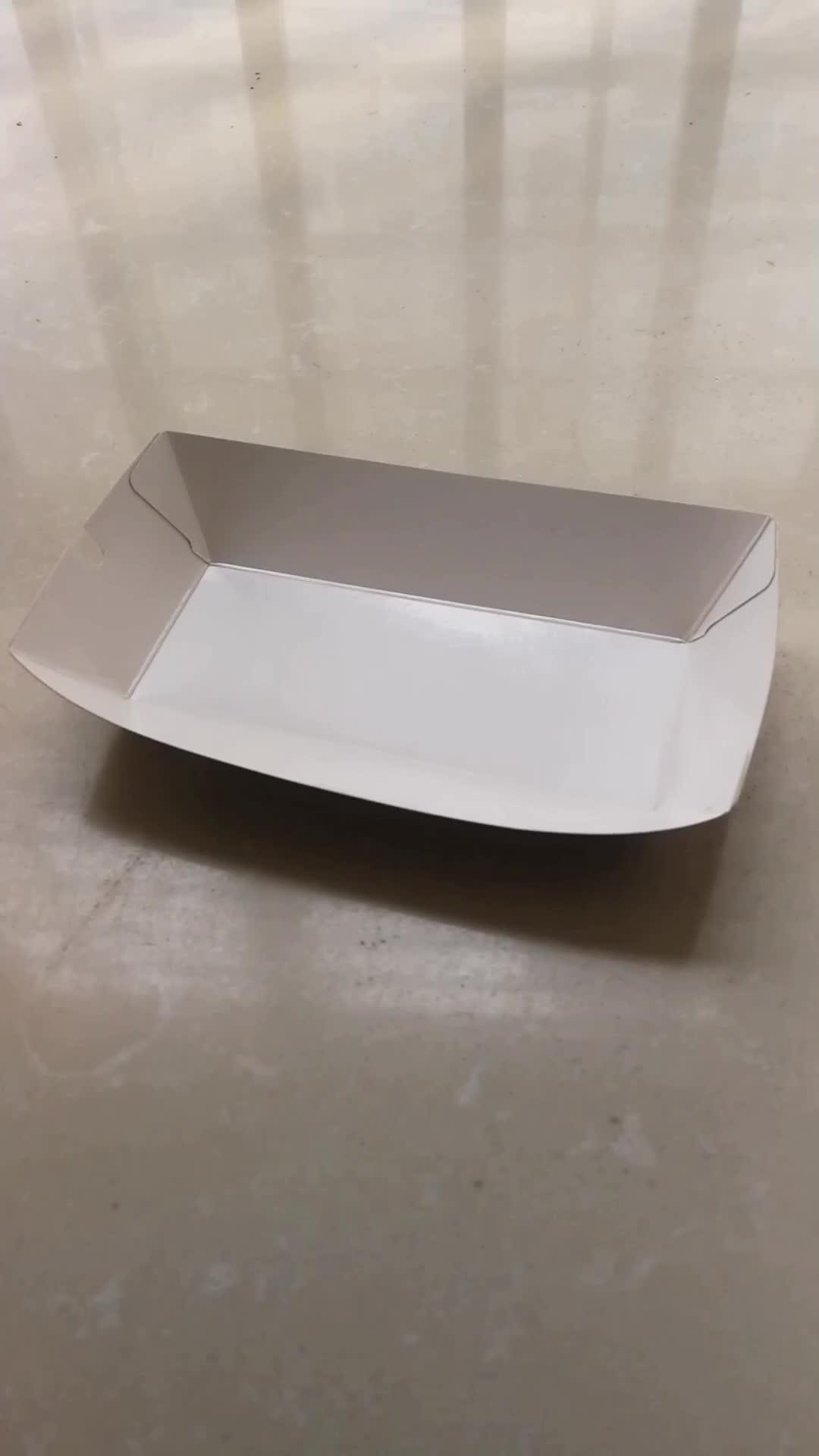 Printing Eco Friendly PLA Kraft Cardboard Paper Food Boat Tray