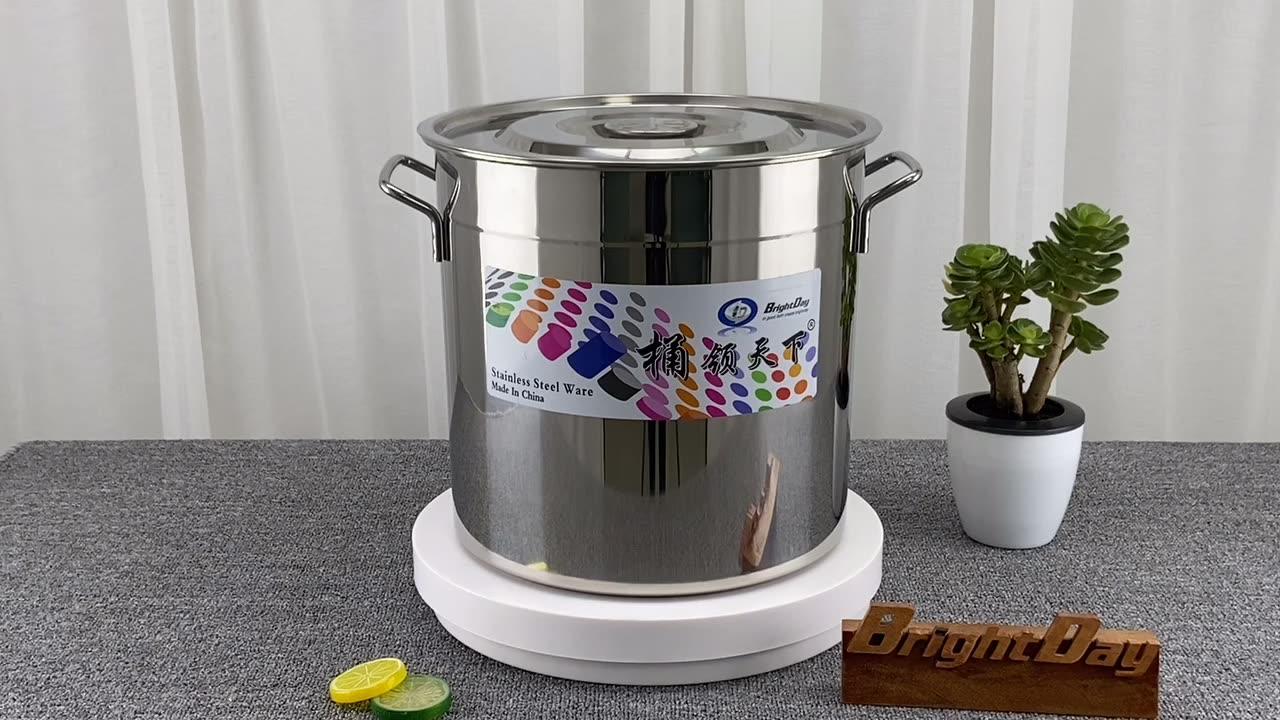ホテルステンレス鋼の在庫鍋/スープバレルアルミ調理鍋ビッグレストランポット