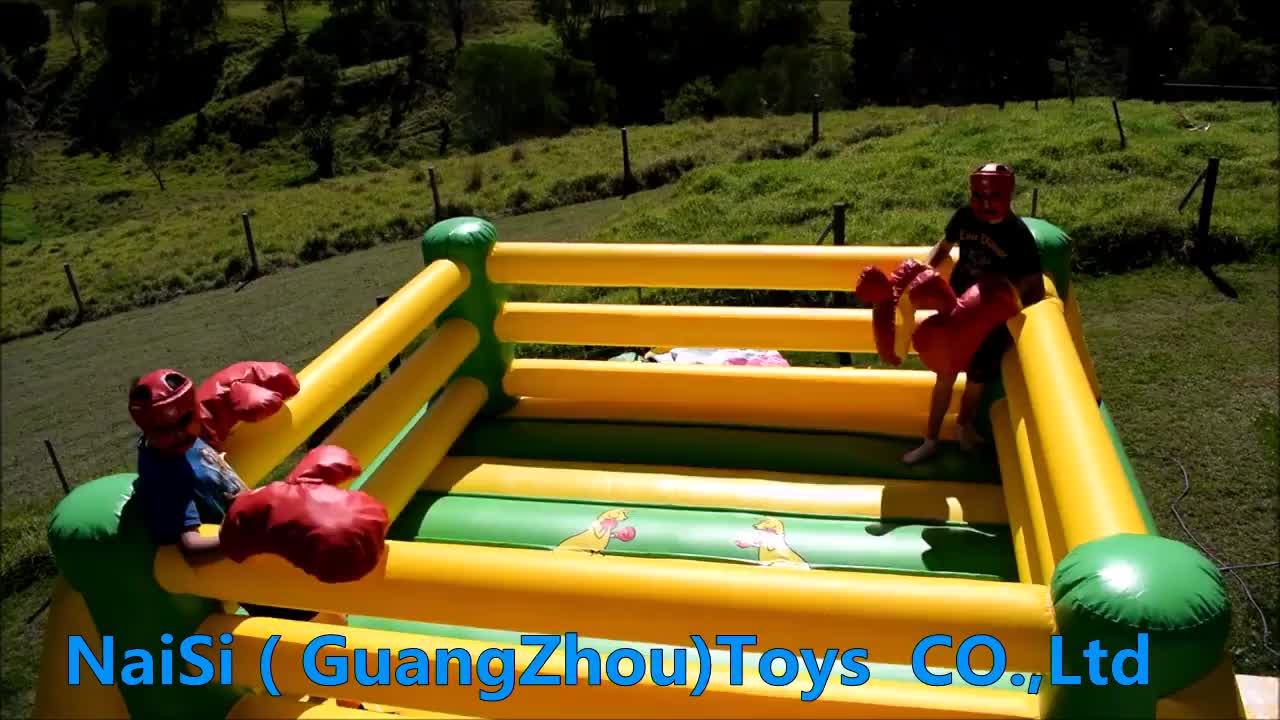 Commercial Kids Wrestling Inflatable Boxing Ring With Gloves / Factory Inflatable Jousting Ring