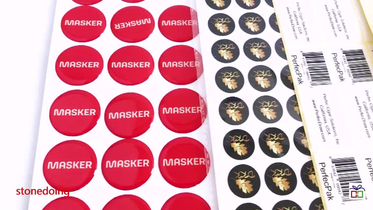 यूवी की रक्षा निविड़ अंधकार कंपनी ब्रांड लोगो प्रिंट कस्टम मर कट स्टिकर Vinyl स्टिकर