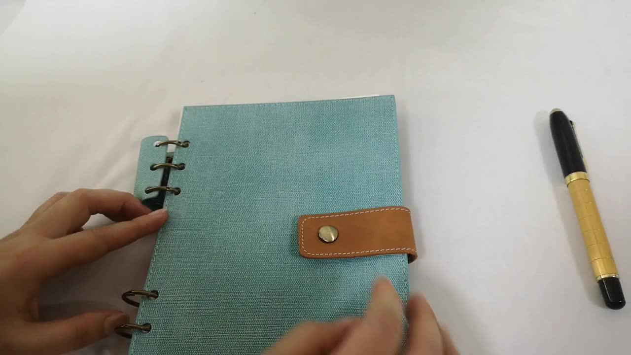 Yeni tasarım özel boyut dizüstü yumuşak kumaş PU kapak spiral günlük bobin omurga