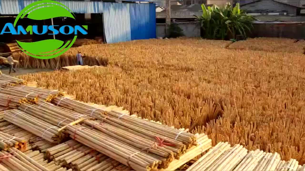120X2.2 cm PVC kaplı ahşap süpürge sopası İtalyan iplik ile sıcak satış Mısır