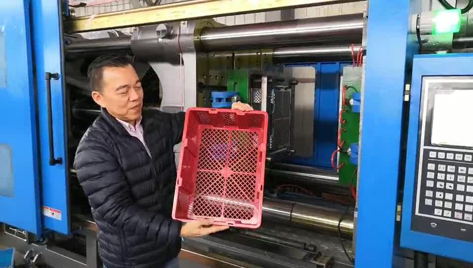 Fruta vegetal cesta caixa de moldagem por injeção de plástico que faz a máquina