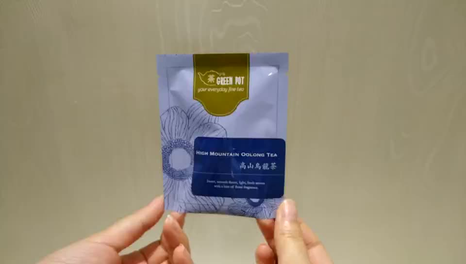 Sachet Oackaging Custom Tea Bag with Tear Notch