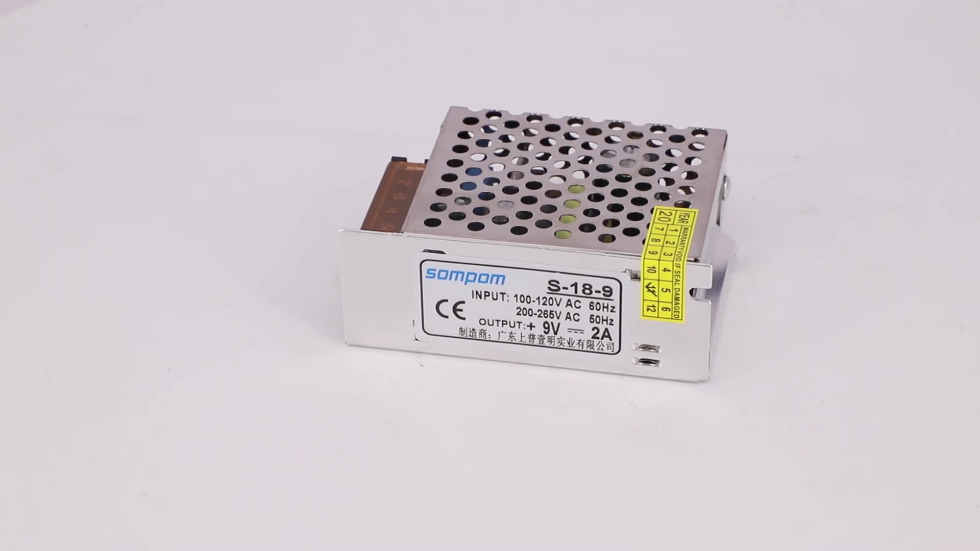 Sompom Power LED Driver Single Output 9V 2A 18W Switching Power Supply Manufacture Supplier