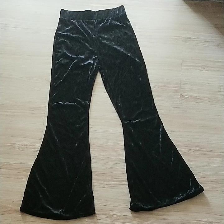レジャーファッションソフト女性ハイウエストフレア脚ベルベットベルボトム女性のパンツ