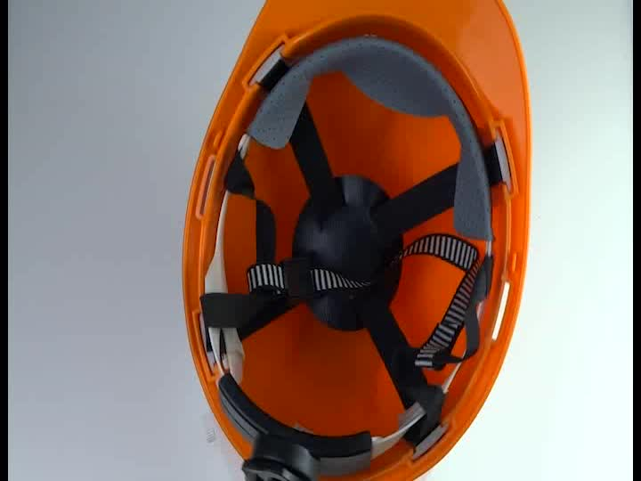 Orange Industrial safety helmet with good price