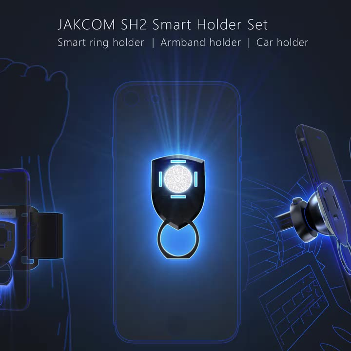 JAKCOM SH2 Smart Holder Set New Product of Mobile Phone Holders 2020 as armband phone holder brown and cony chain yexiang clec