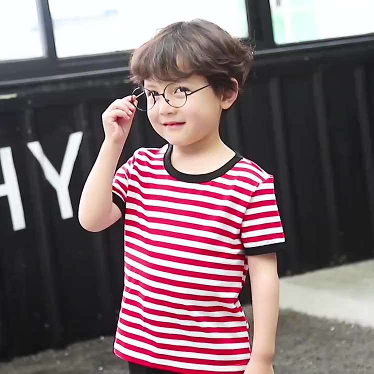 Fast Delivery RTS Kids 100% Cotton Striped Kids T Shirt