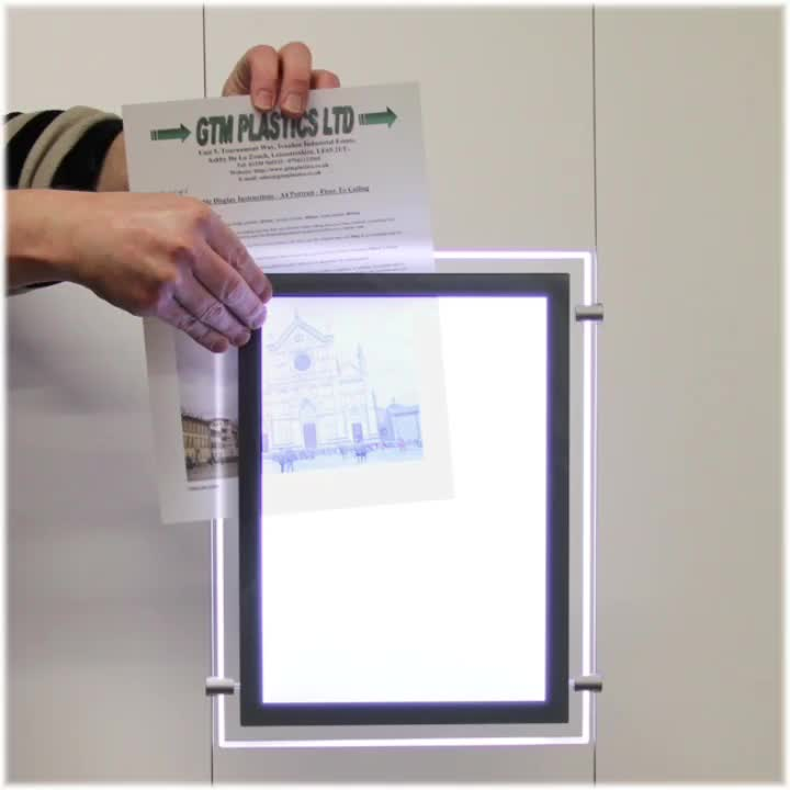 Popular acrylic display light box for real estate agent