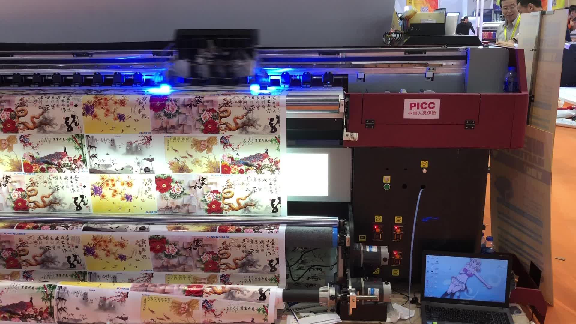 Voor outdoor/indoor industriële eco solvent uv flatbed printer originele xaar 1201 printkop