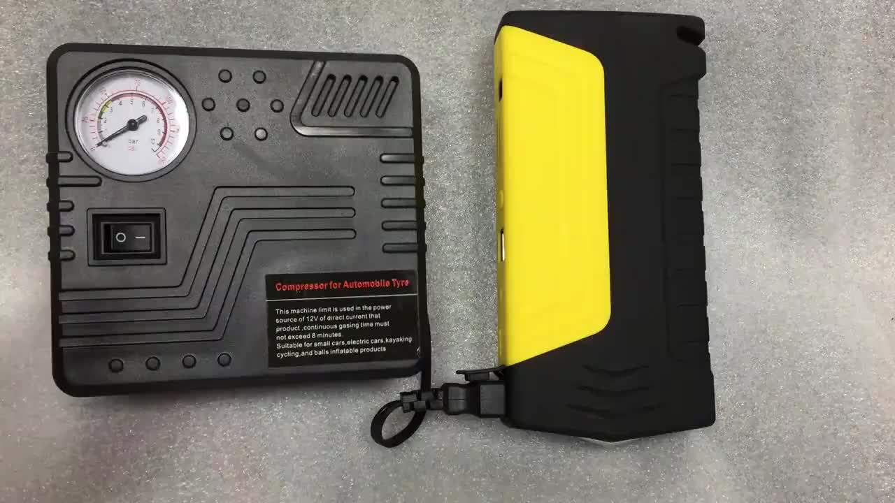 Muti-function Jump Starter 600A 50800mAh High Power Battery Charger Dual USB Vehicle Jump Starter Booster Car Starting Device