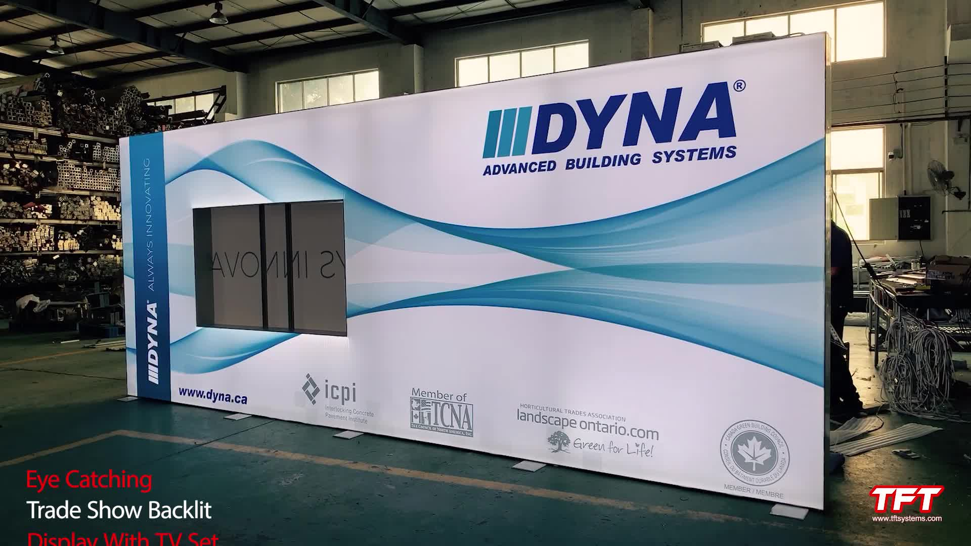 Wholesale Custom Design 3 x 6 Aluminum Frameless Tension Fabric Light Box Exhibition Backlit Display