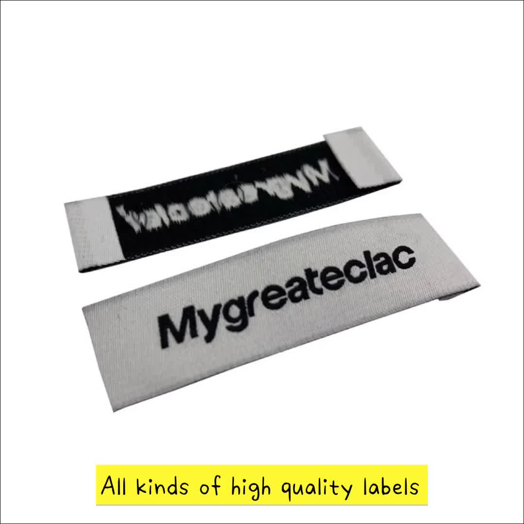 High Quality Custom Clothing Garment Manufactures Tags Custom