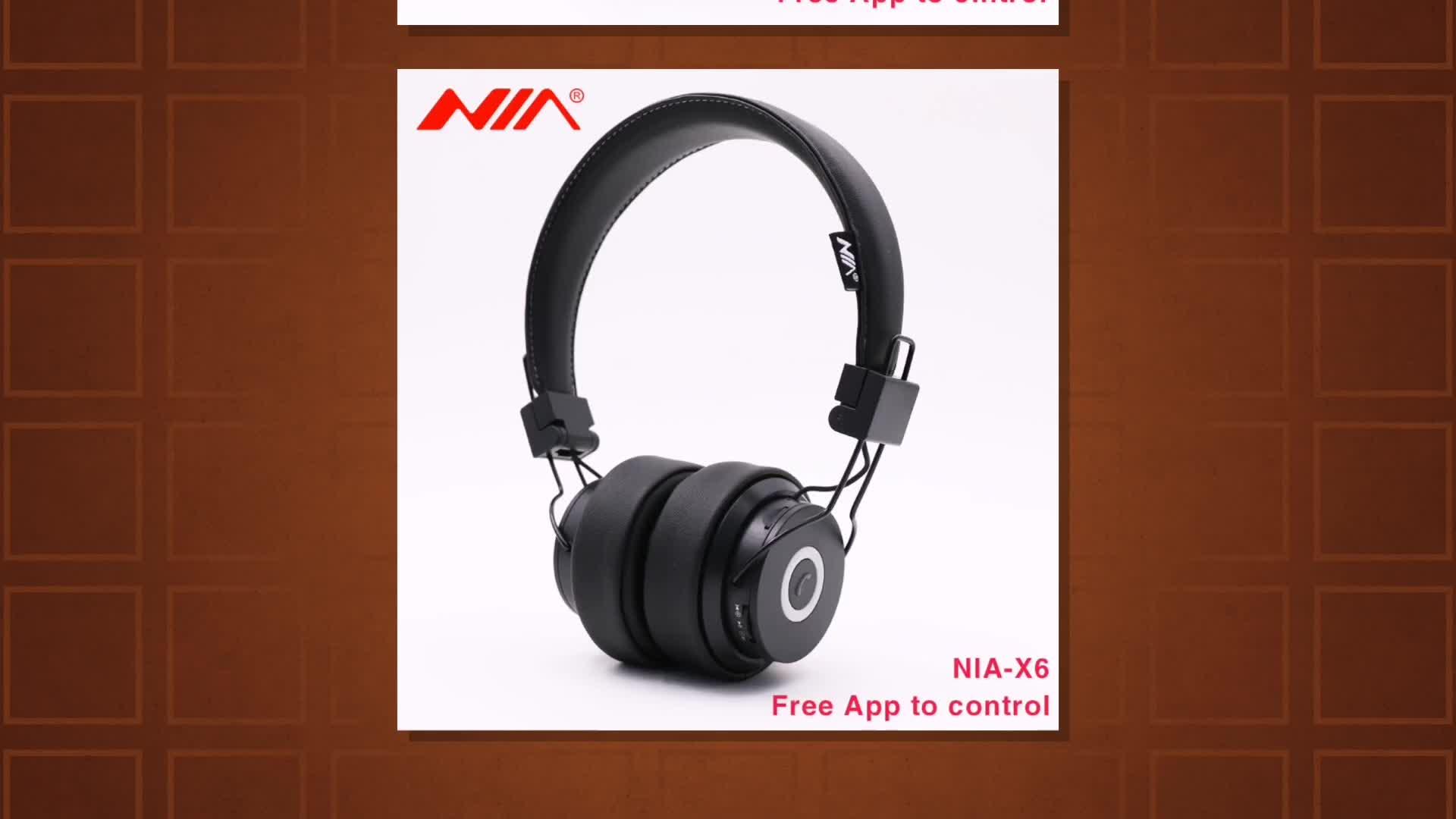 NIA X6 On-Ear Draadloze Stereo Hoofdtelefoon met TF Card Slot, FM Radio, NIA APP Verbinden en Audio-ingang