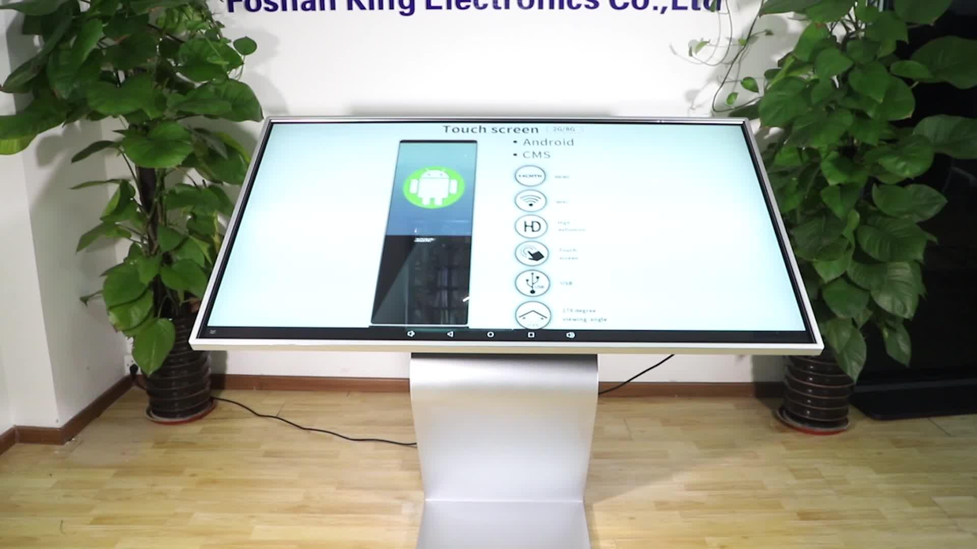 Horizontal  interactive display screens  LCD Vertical Advertising Player Display Digital Kiosk